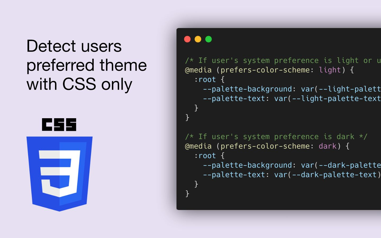 Detecting The User's Color Scheme Preference With CSS