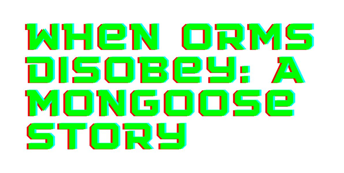 /when-orms-disobey-a-mongoose-story-q11e33k2 feature image