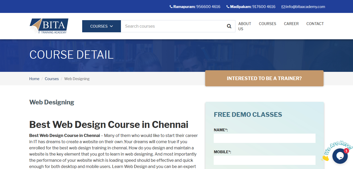 10 Web Designing Institute In Chennai To Learn Web Development Hacker Noon