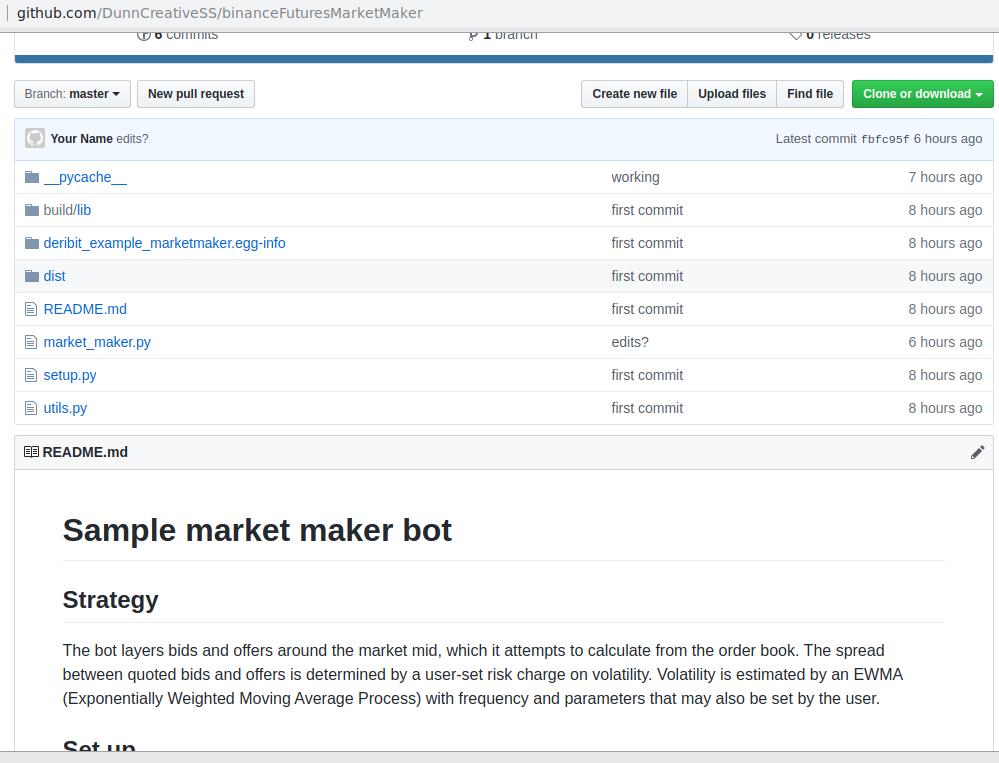 binance futures trading bot în python