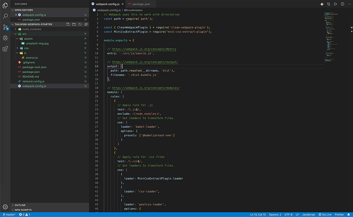 /building-a-reusable-front-end-development-project-using-webpack-and-tailwind-css-nsk2de9 feature image