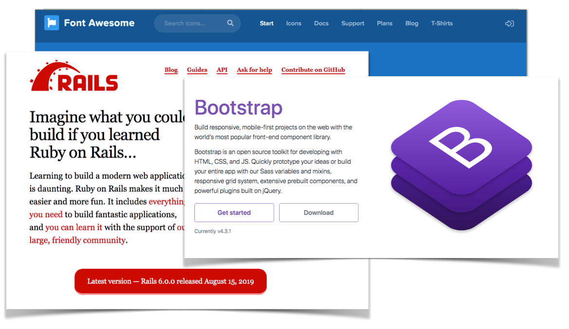 /integrate-bootstrap-4-and-font-awesome-5-in-rails-6-u87u32zd feature image